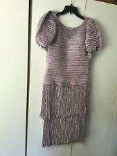 Vintage Mary McFadden Couture Lavender Cocktail Dress size 8