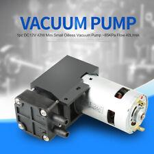 DC12V 42W Mini Small Oilless Vacuum Pump Low Noise -85KPa Flow 40L/min