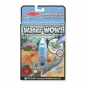 Melissa & Doug On the Go Water Wow! Water-Reveal Activity Pad - Under the Sea.