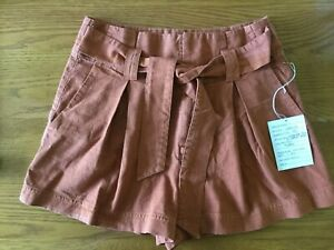 NWT Free People Everywhere you go Pleated Shorts XS