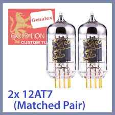 2x Genalex Gold Lion 12AT7 ECC81 B739 Vacuum Tube TESTED, Matched Pair