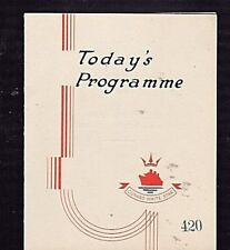 RMS Queen Mary Dailey Programme Monday September 26 1938