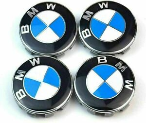 4PCS BMW Emblem Logo Badge Hub Wheel Rim Center Cap 68mm Set of 4 covers