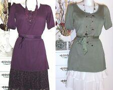 NOA NOA - TUNIKA Wewanna Viscose lila persia Envy Grün - dress Kleid NEU