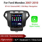 """9.7"""" Tesla Style Android 11 Apple Carplay Car Stereo GPS For Ford Mondeo 07-10"""
