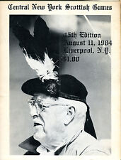 Central NY Scottish Games August 11 1984 Liverpool Program EX 041116jhe