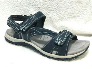 Earth Origins Womens Sophie Leather Open Toe Casual Sport Sandals
