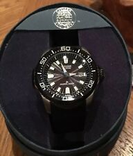 MENS CITIZEN ECO DRIVE DIVERS 300M WATCH BN0085 RUBBER STRAP