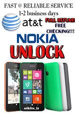 AT&T Nokia Lumia 520 635 640 820 830 900 920 1520 2520 Code Unlock Service