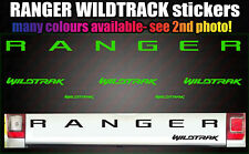 Ranger Wildtrack CUSTOM Rear Tailgate decal sticker 6 piece set 2012-2017