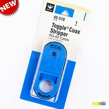 Ideal Toggle Coax Stripper Rg 62 Cable 2 Step Or 3 Step Strip 45 518 Tool
