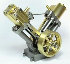 Live Steam - V Twin Cylinder Marine Model Steam Engine Fully Machined Metal Kit