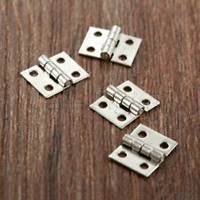 Stainless Steel Furniture Door Hinges Jewelry Box Dollhouse Cabinet Drawer Hinge
