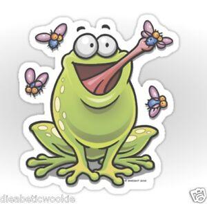 Adorable Cute Happy Frog Toad Animal pet Sticker decal car laptop scrapbook