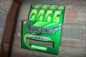 2 dozen BRAND NEW Srixon Soft Feel  golf balls  Brite Green