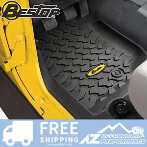 Bestop Front Floor Liner Set - Black fits 2007-2013 Jeep Wrangler JK 51500-01