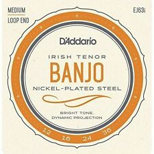 D'Addario EJ63i Irish Tenor Banjo Strings.Loopend Construction For Universal Fit