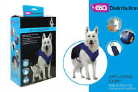 One Size Pet Cooling Jacket Breathable Vest Durable Washable 6 Hours Cool Summer