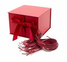 "Hallmark 7"" Large Gift Box with Fill (Red) for Birthdays, Christmas, Bridal Show"