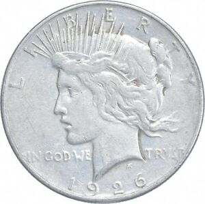 Early - 1926-S Peace Silver Dollar - 90% US Coin *889