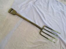 ANTIQUE GARDEN PITCH FORK WITH ALL WOOD D HANDLE