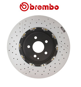 For CL65 S65 AMG Front Left or Right Drilled Slotted PVT Disc Brake Rotor Brembo