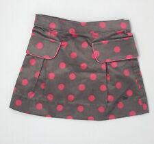 Petit Lem Toddler Girls Skirt Brown Pink 2T Velour Polka Dot Mini Straight NEW