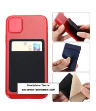 Handy Klebetasche Smartphone Kreditkartenhalter Geldtsche selbstklebend dehnbar