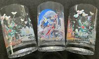 McDonalds Walt Disney World Remember The Magic 25th Anniversary Glasses Set of 3