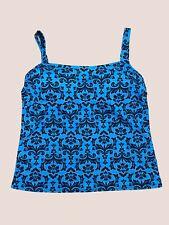Lands End Size 10 Swim Tankini Top, Blue Paisley