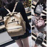 Women PU Leather Satchel Backpack Travel Handbag Rucksack Shoulder School Bag UK