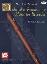 Medieval & Renaissance Music for Recorder Sheet Music Book