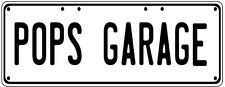 POPS GARAGE Number Plate Fathers Day Gift Man Cave Pool Room Licence Plate