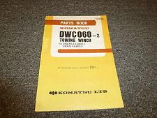 Komatsu Dwc060-2 Towing Winch Parts Catalog Manual Manual S/N 2001-Up