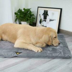 Plush Pet Mat Soft Comfortable Warms Dog Bed Kennel Puppy Blankets Cushion W4Z2
