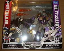TRANSFORMERS ANIMATED DX CLASS PROWL VS VOYAGER CLASS BLITZWING TAKARA TOMY 2010