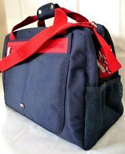Tommy Hilfiger Gym Travel Bag Dark Blue Canvas w Shoulder Strap Brand New