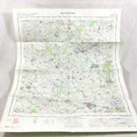 1968 Vintage Militare Mappa Di Buckingham Bletchley Brackley Aylesbury Bicester