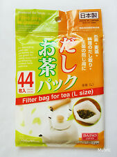 Daiso Japan Premium FILTER BAG FOR TEA (L Size) Black Green Herbal 44pcs