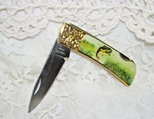 Bass Fisherman Folding Pocket Knife