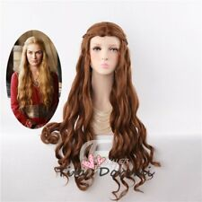 Halloween Wig Costume Game of Thrones Cersei Brown Cosplay Heat Resistant 70cm