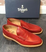Men,s - Tricker's - James - Red Step in Loafer Shoes - UK 10