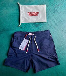 Orlebar Brown Men's Standard Navy swim shorts, size 32 - brand new