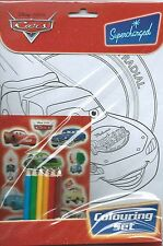 Disney Pixar Cars Party Supplies Gifts - Colouring Set inc Stickers & Pencils