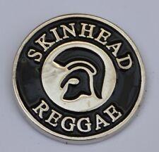 Black Skinhead Reggae Trojan Quality Enamel  Pin Badge