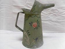 Vintage Decorative Painted Galvanized Half Gallon Liquid/ Oil Can