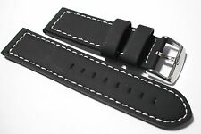 Darlena leather watch strap.  5mm thick yet supple, lined, rubber coated.