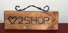 Artist Made Cowgirl Wood Sign Barbed Wire Love 2 Shop Western Decor Wooden Sign