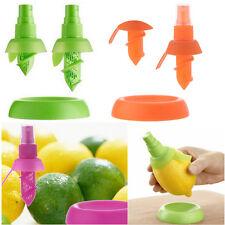 Stylish 2Pcs Fresh Spray Fruit Lemon Orange Citrus Juice Maker Sprayer Tool
