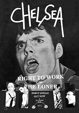 """CHELSEA -RIGHT TO WORK Retro Punk Poster A1 Size 84.1cm x 59.4cm - 33"""" x 24"""""""